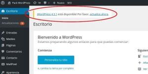 Actualización versiones WordPress