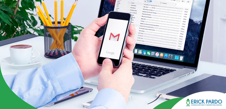 Correo corporativo configurado en Gmail